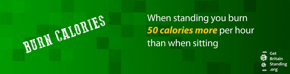 burn 50 calories more when standing